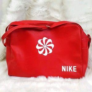 Vintage Nike red Pinwheel Travel Duffle Bag Purse